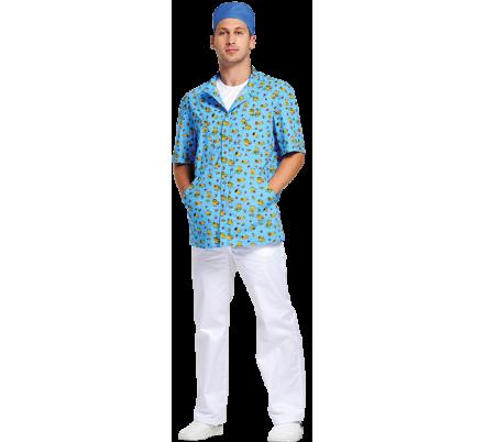 Блуза мужская Педиатр М (Мишки сорочка)