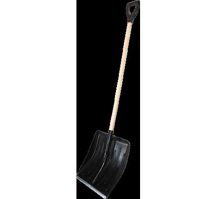 Лопата пластмассовая с оцинкованной планкой черенком и V ручкой 430х490