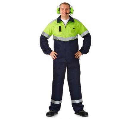 Куртка мужская летняя сигнальная «Оператор Хай-Виз» из антистатической ткани