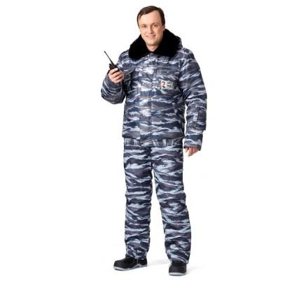 Куртка мужская зимняя камуфлированная «Секьюрити»