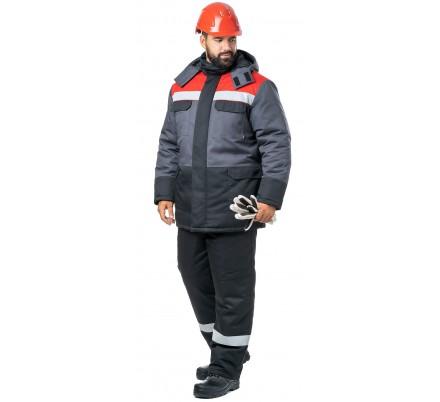 Куртка мужская зимняя «Молоток» серая