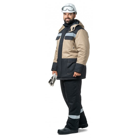 Куртка мужская зимняя «Молоток» бежевая