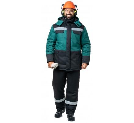 Куртка мужская зимняя «Молоток» зеленая