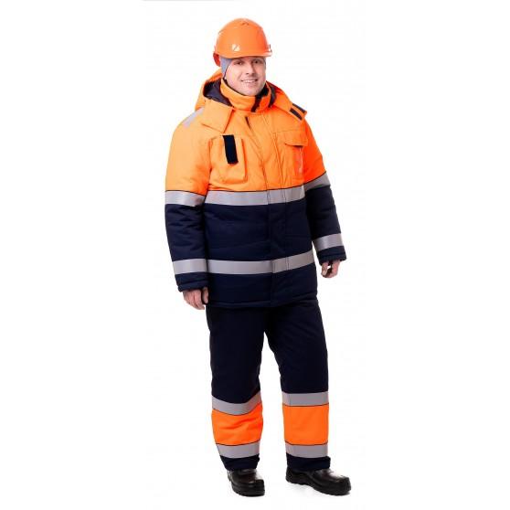 Куртка мужская зимняя сигнальная «Магистраль»